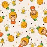 Ananas en Bloemen Royalty-vrije Stock Foto's