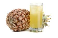 Ananas en sap van ananas Royalty-vrije Stock Foto