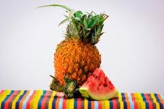 Ananas en watermeloen Royalty-vrije Stock Afbeeldingen