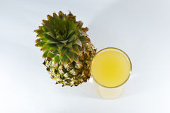 Ananas et jus Image libre de droits