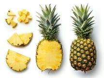 Ananas frais sur le fond blanc Photos stock
