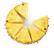 Ananas Frutta fresca isolata su bianco immagine stock