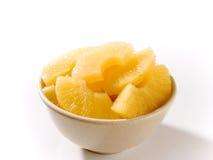 Ananas gebrochene Scheiben Lizenzfreie Stockfotos