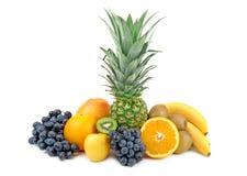 Ananas i inne owoc obraz royalty free