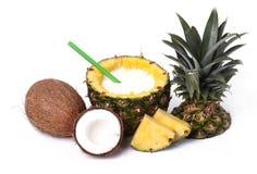 Ananas i koks obraz stock