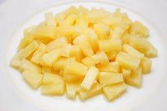 Ananas i sirap Arkivfoton