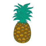 Ananas illustration. Isolated cute funny Stock Photo