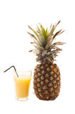 Ananas isolato su bianco Fotografia Stock Libera da Diritti