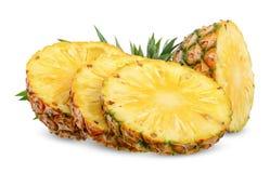 Ananas isolato su bianco con il percorso di ritaglio immagini stock