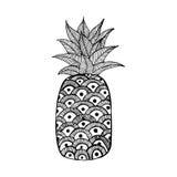 Ananas isolato su fondo bianco Fotografie Stock