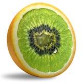 Ananas, Kiwi, Druiven, Banaan, Apple en Kalk Stock Fotografie