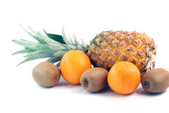 Ananas kiwi oranges Royalty Free Stock Image