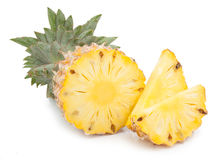 Ananas med skivor Fotografering för Bildbyråer