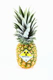 Ananas met radioaktivetiket Stock Afbeelding