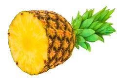 Ananas mezzo Fetta fresca dell'ananas isolata sul backgrou bianco Immagine Stock Libera da Diritti