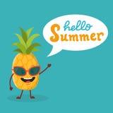 Ananas mignon avec la parole Images stock