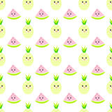 Ananas, modello infantile senza cuciture del watermeloncartoon royalty illustrazione gratis