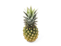 Ananas op witte achtergrond Royalty-vrije Stock Foto's