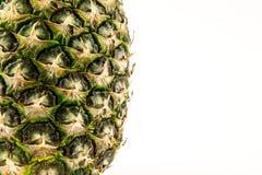 Ananas op witte achtergrond wordt geïsoleerd die De zomerfruit Stock Fotografie