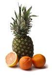 Ananas, Orangen und Pampelmuse Stockbild