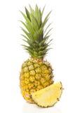 Ananas organico giallo fresco Fotografia Stock