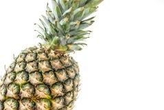 Ananas på vit Arkivfoto