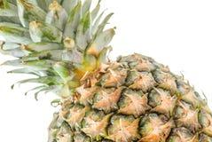 Ananas på vit Royaltyfria Bilder