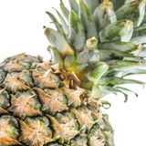 Ananas på vit Royaltyfria Foton