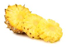 Pineapple. Ananas pineapple and its slices Royalty Free Stock Photo