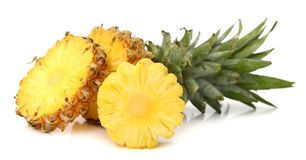 Pineapple. Ananas pineapple and its slices Royalty Free Stock Images