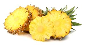 Pineapple with slices. Ananas pineapple and its slices Stock Images
