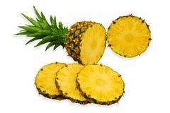 ananas pokrajać Obrazy Stock