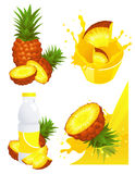 Ananas products royalty free illustration