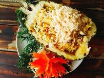 Ananas-Reis samui des Lebensmittels köstliches Lizenzfreie Stockfotografie