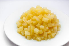 Ananas in sciroppo Fotografie Stock Libere da Diritti