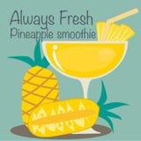 Ananas Smoothievektor Stockbild