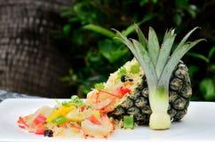 Ananas stekt Rice royaltyfri foto