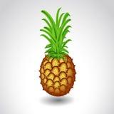 Ananas su succoso maturo del fondo bianco Immagine Stock
