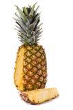 Ananas sur le blanc Photos libres de droits