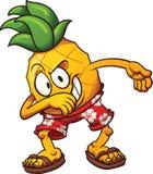 Ananas tamponante Immagini Stock