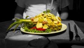 Ananas thaïlandais bourré de la salade Photographie stock libre de droits