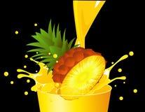 Ananas tombant en jus illustration de vecteur
