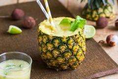 Ananas z Lychee smoothie Zdjęcia Stock