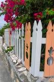 Ananas-Zaun, Abakus, Bahamas Stockbilder