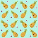 Ananasa bezszwowy wzór Zdjęcia Royalty Free