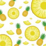 Ananasa Deseniowy tło, tapeta i szablon, Obraz Royalty Free