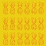 Ananasa wzoru projekta yelow royalty ilustracja