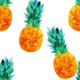 Ananasa wzór Obrazy Royalty Free