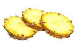 ananasen skivar tre Royaltyfri Fotografi