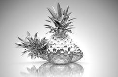 ananases镀铬了反映 皇族释放例证